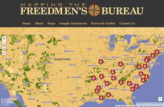 Freedmen's Bureau map